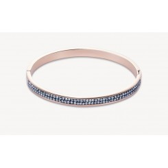 COEUR DE LION Rose Gold Stainless Steel Hematite Pavé Set Bangle 0214/33-1223