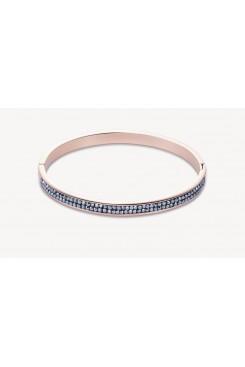 COEUR DE LION Rose Gold Stainless Steel Hematite Pavé Set Bangle 0214/33-1223
