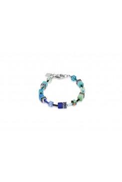 COEUR DE LION Geo Cube Bright Blue Bracelet 2838/30-0705