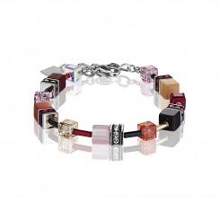 COEUR DE LION Geo Cube Red Rose Beige Bracelet 2838/30-0326