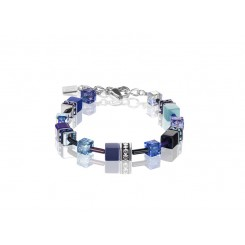 COEUR DE LION Geo Cube Navy Blue Purple Bracelet 2838/30-0708