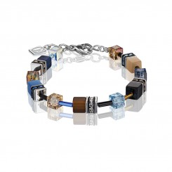 COEUR DE LION Geo Cube Desert Sand and Sky Bracelet 2838/30-0732