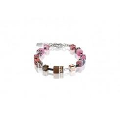COEUR DE LION Geo Cube Pale Pink Tan Bracelet 2838/30-1119