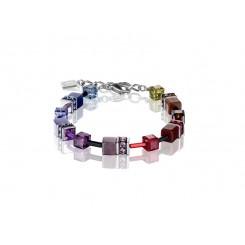 COEUR DE LION Geo Cube Soft Rainbow Bracelet 2838/30-1570