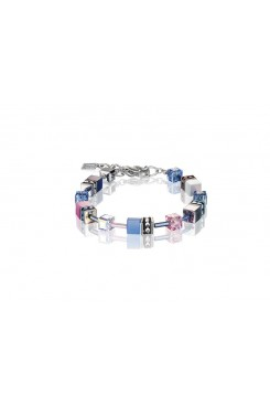 COEUR DE LION Geo Cube Pink, Navy and Sky Blue Bracelet 2839/30-0719
