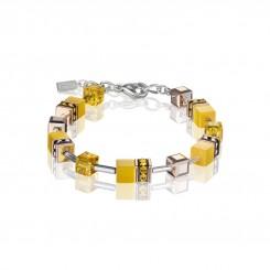 COEUR DE LION Geo Cube Vibrant Yellow Bracelet 4016/30-0100