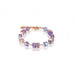 COEUR DE LION  Geo Cube Soft Purple Natural Amethyst Bracelet 4017/30-0829