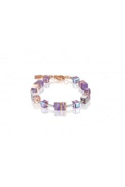 COEUR DE LION  Geo Cube Soft Purple Natural Amethyst Bracelet 4017/30-0829