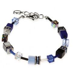 COEUR DE LION Geo Cube Cobalt Blue Bracelet 4014/30-0712