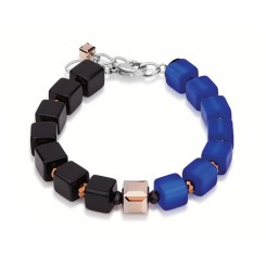 COEUR DE LION Geo Cube  Blue-Black Bracelet 4686B