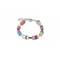 COEUR DE LION Geo Cube Multi-colour Pastel Bracelet 4746/30-1542