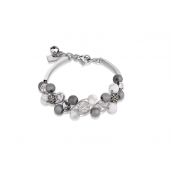 COEUR DE LION Swarovski Howlite Agate White Bracelet 4845/30-1214