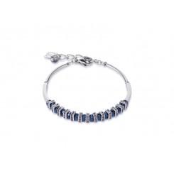 COEUR DE LION Swarovski Cut Glass Midnight Blue Bracelet 4858/30-1223