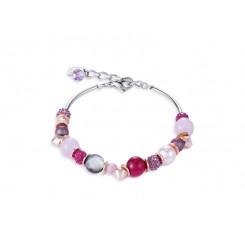COEUR DE LION Swarovski Pearls, Agate Magenta Pink Bracelet 4864/30-0400