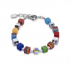 COEUR DE LION Geo Cube Haematite Malachite Multicolour Small Bracelet 4882/30-1500