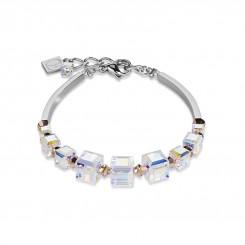 COEUR DE LION Swarovski Crystal Clear Rose Bracelet 4883/30-1620