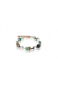 COEUR DE LION Geo Cube Howlite Jasper Aventurine Bracelet 4905/30-0510