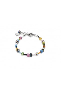 COEUR DE LION  Geo Cube Multi Colour Graduated Bracelet 4910/30-1527