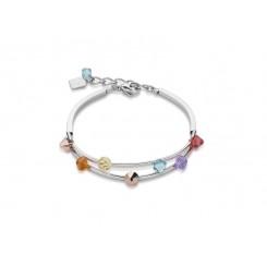 COEUR DE LION Swarovski Rainbow Multi Strand Bracelet 4917/30-1522