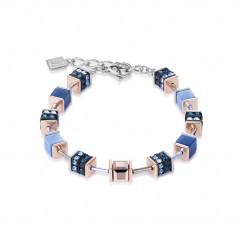 COEUR DE LION Geo Cube Elegant Dusky Blues Bracelet 4928/30-0700