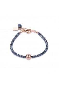 COEUR DE LION Bold Grey Hematite & Rose Gold Bracelet 4932/30-1620