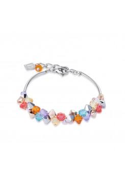 COEUR DE LION Multicolour Crystal & Rose Gold Bracelet 4938/30-1522