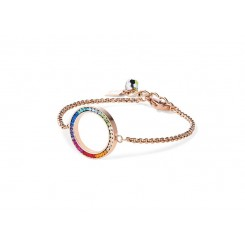 COEUR DE LION Swarovski Multi Coloured Circle Pendant Bracelet 4957/30-1500