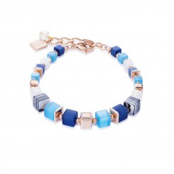COEUR DE LION Geo Cube Malachite Fresh Sky Blues Bracelet 4963/30-0706