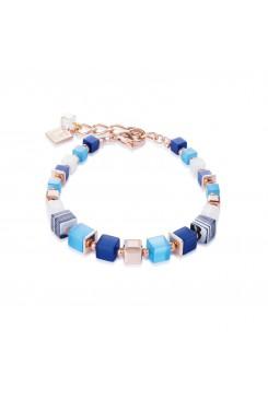 COEUR DE LION Geo Cube Malachite Fresh Sky Blues Bracelet 4963/30-0706