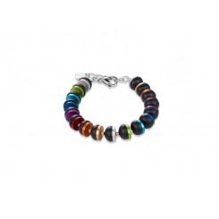 COEUR DE LION Onyx Bright Rainbow & Rose Gold Bracelet 4976/30-1500