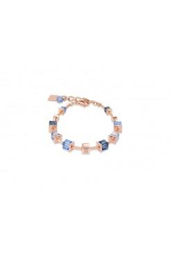 COEUR DE LION Geo Cube Soft Dusky Blues Bracelet 4996/30-0700