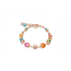 COEUR DE LION Geo Cube Luxurious Multicolour Bracelet 4996/30-1500