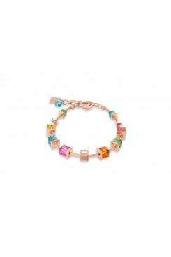 COEUR DE LION Geo Cube Luxurious Multicolour Bracelet 4996/30-1500