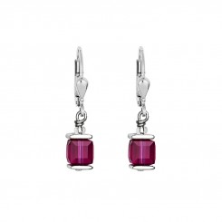 COEUR DE LION Cube Drop Earrings with Swarovski Crystals Purple 0094/20-0400