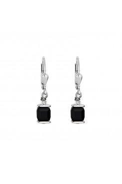 COEUR DE LION Cube Drop Earrings with Swarovski Crystals Black 0094/20-1300