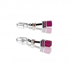 COEUR DE LION Geo Cube Magenta, Mauve and Pink Earrings 2838/20-0325