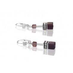 COEUR DE LION Geo Cube Pale Pink Tan Earrings 2838/20-0838
