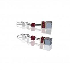 COEUR DE LION Geo Cube Titanium Red Necklace 4015/10-0300