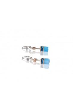 COEUR DE LION Geo Cube Delicate Cornflower Blue Earrings 4016/20-0700
