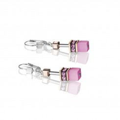 COEUR DE LION Geo Cube Soft Rose Pink Earrings 4016/20-1920