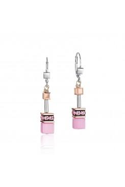 COEUR DE LION Geo Cube Soft Rose Pink Earrings 4016/20-1920