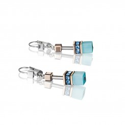 COEUR DE LION Geo Cube Fresh Turquoise Earrings 4016/20-2000