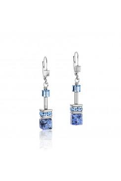 COEUR DE LION Geo Cube Hematite & Blue Sodalite Earrings 4017/20-0700