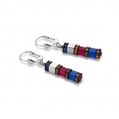 COEUR DE LION Geo Cube Fine Multicolour Hematite Bright Earrings 4031/20-1547