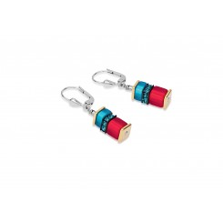 COEUR DE LION Geo Cube Malachite Multicolour Earrings 4746/20-1500