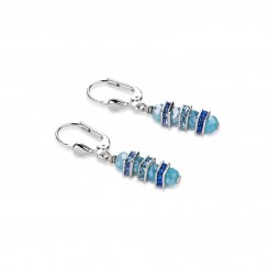 COEUR DE LION Swarovski Cut Glass Pale Blue Earrings 4858/20-0720