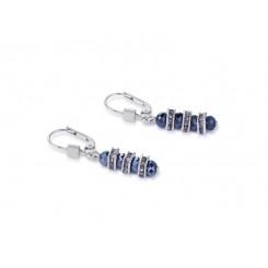 COEUR DE LION Swarovski Cut Glass Midnight Blue Earrings 4858/20-1223