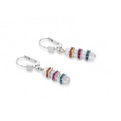 COEUR DE LION  Swarovski, Cut Glass Clear Rainbow Earrings 4858/20-1518