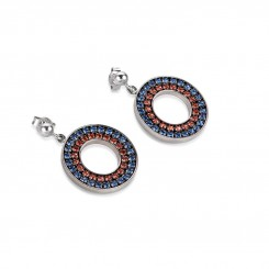 COEUR DE LION Swarovski Navy Red Circle Pendant Earrings 4878/21-0703