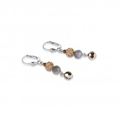 COEUR DE LION Botswana Agate Rose Earrings 4895/20-1112